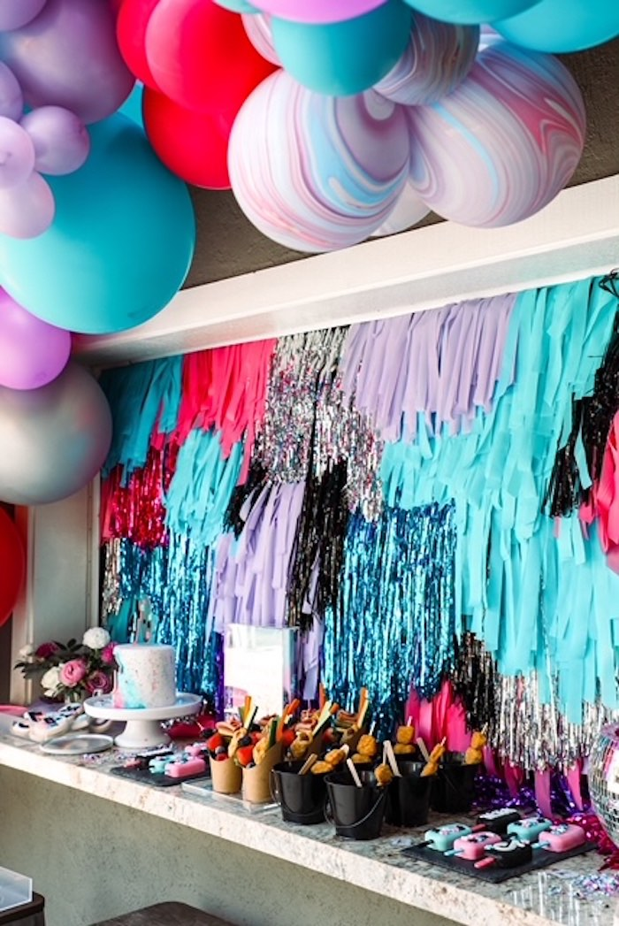 Tassel Streamer Dessert Spread from a TikTok Teen Birthday Party on Kara's Party Ideas | KarasPartyIdeas.com (6)