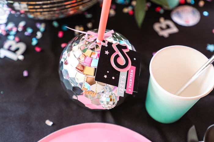 Disco Ball Cup from a TikTok Teen Birthday Party on Kara's Party Ideas | KarasPartyIdeas.com (28)