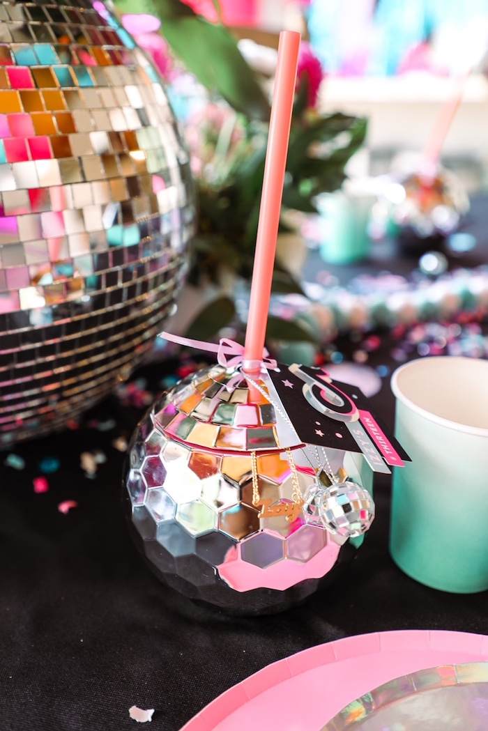 Disco Ball Cup from a TikTok Teen Birthday Party on Kara's Party Ideas | KarasPartyIdeas.com (24)