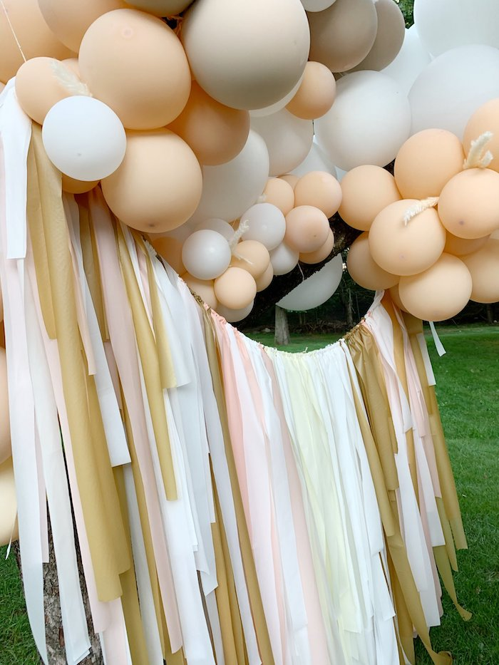 Tassel Balloon Banner from a Tropical Boho Baby Sprinkle on Kara's Party Ideas | KarasPartyIdeas.com (6)