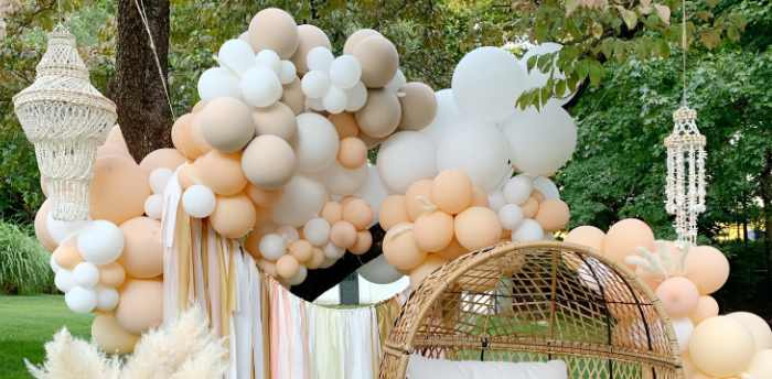 Tropical Boho Baby Sprinkle on Kara's Party Ideas | KarasPartyIdeas.com (1)
