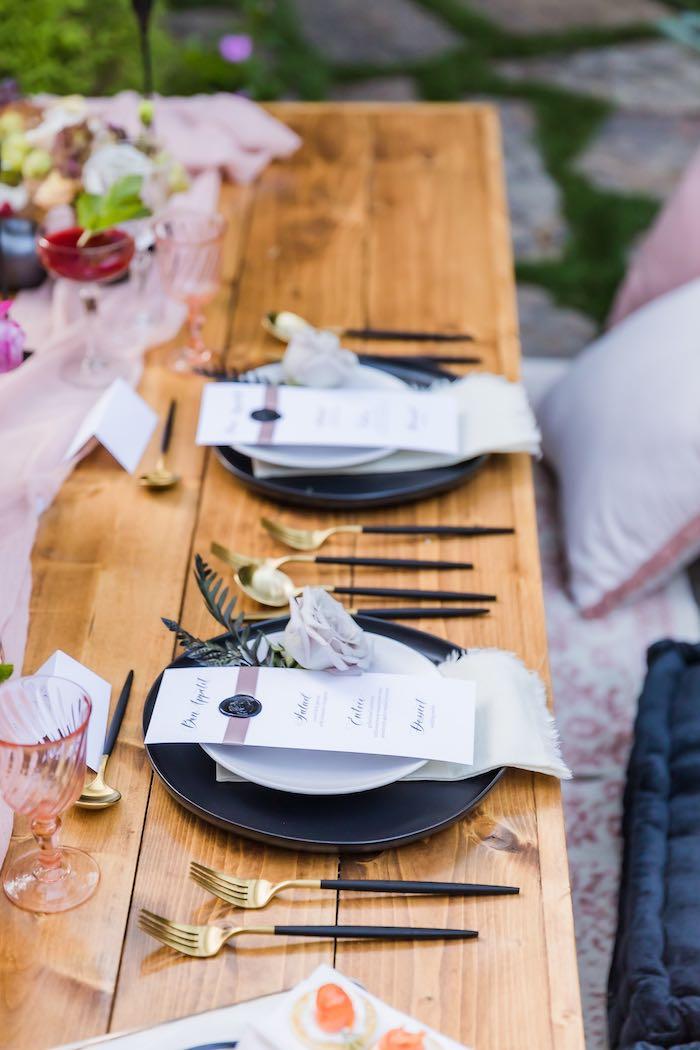 Vintage Modern Elegant Garden Wedding on Kara's Party Ideas   KarasPartyIdeas.com (24)