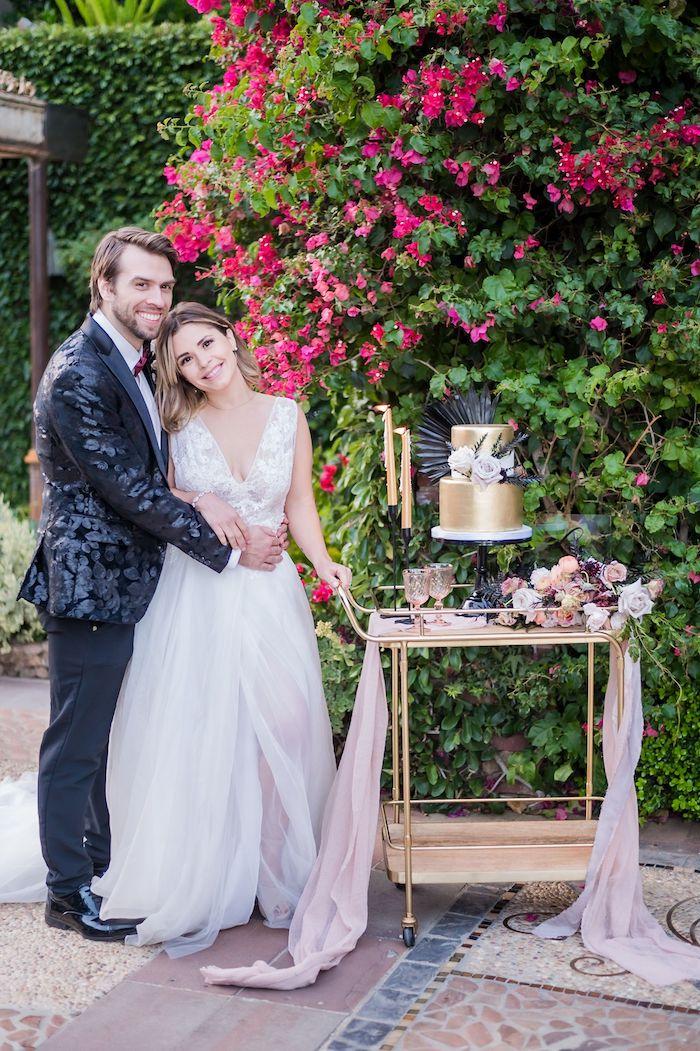 Vintage Modern Elegant Garden Wedding on Kara's Party Ideas   KarasPartyIdeas.com (40)