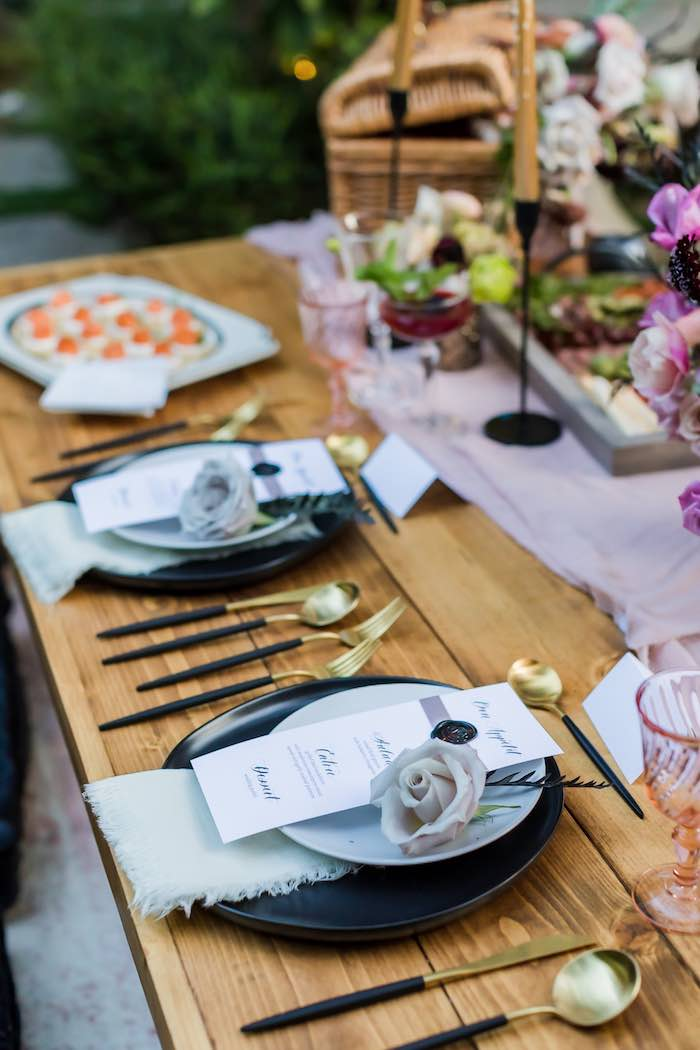 Vintage Modern Elegant Garden Wedding on Kara's Party Ideas   KarasPartyIdeas.com (17)