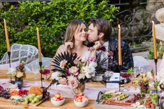 Vintage Modern Elegant Garden Wedding on Kara's Party Ideas   KarasPartyIdeas.com (16)