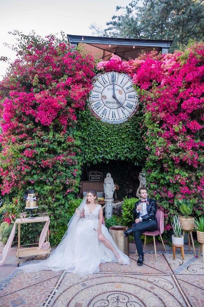 Vintage Modern Elegant Garden Wedding on Kara's Party Ideas   KarasPartyIdeas.com (10)