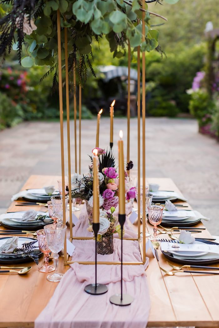 Wedding Guest Table from a Vintage Modern Elegant Garden Wedding on Kara's Party Ideas   KarasPartyIdeas.com (9)