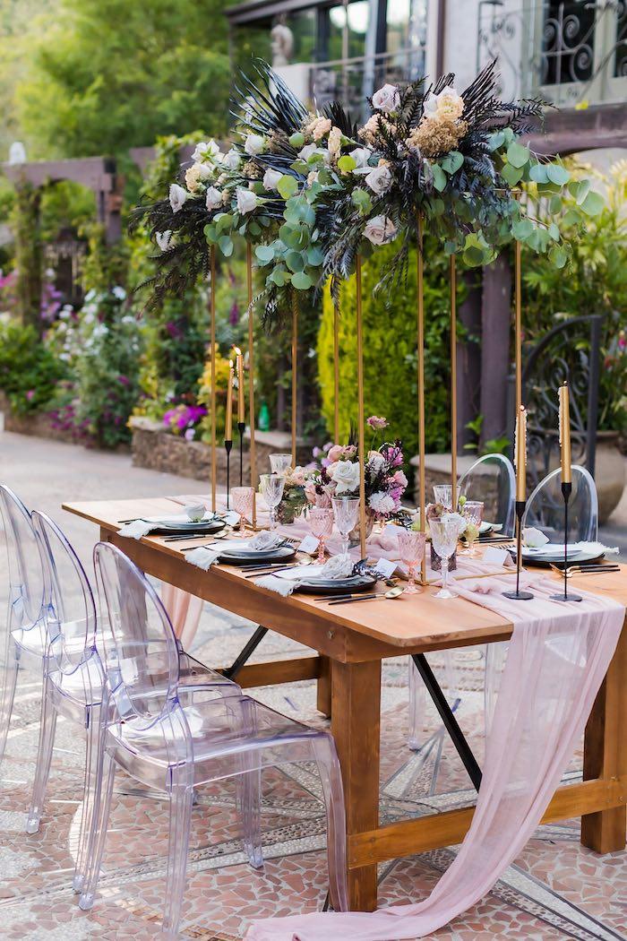Wedding Guest Table from a Vintage Modern Elegant Garden Wedding on Kara's Party Ideas   KarasPartyIdeas.com (8)