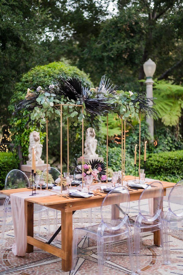 Wedding Guest Table from a Vintage Modern Elegant Garden Wedding on Kara's Party Ideas   KarasPartyIdeas.com (7)