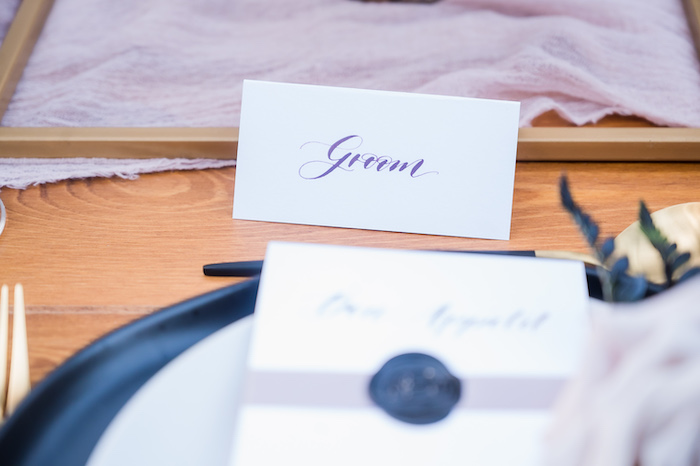 Place Card from a Vintage Modern Elegant Garden Wedding on Kara's Party Ideas   KarasPartyIdeas.com (5)