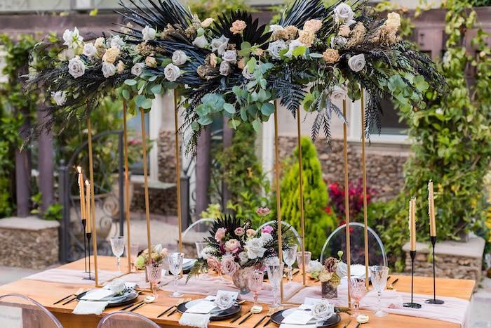 Wedding Guest Table from a Vintage Modern Elegant Garden Wedding on Kara's Party Ideas   KarasPartyIdeas.com (2)