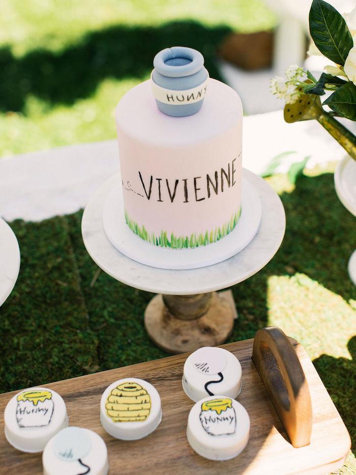 Hunny Pot Smash Cake from a Winnie the Pooh Backyard Party on Kara's Party Ideas | KarasPartyIdeas.com (24)