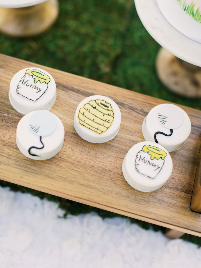 Winnie the Pooh-inspired Oreos from a Winnie the Pooh Backyard Party on Kara's Party Ideas | KarasPartyIdeas.com (21)