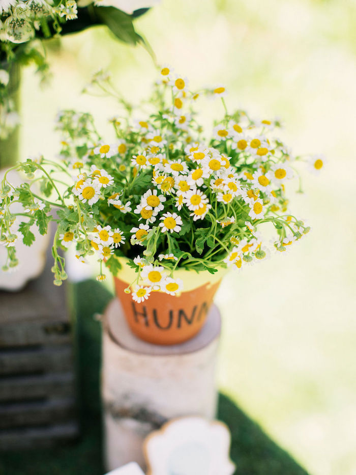 Hunny Pot Blooms from a Winnie the Pooh Backyard Party on Kara's Party Ideas | KarasPartyIdeas.com (17)