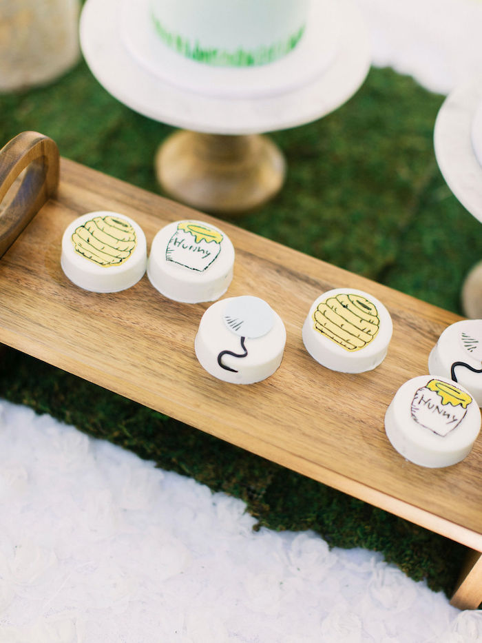 Winnie the Pooh-inspired Oreos from a Winnie the Pooh Backyard Party on Kara's Party Ideas | KarasPartyIdeas.com (33)