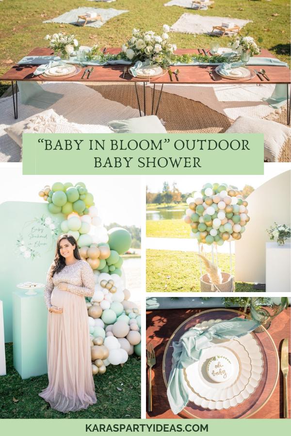 """""""Baby in Bloom"""" Outdoor Baby Shower via Kara's Party Ideas - KarasPartyIdeas.com"""