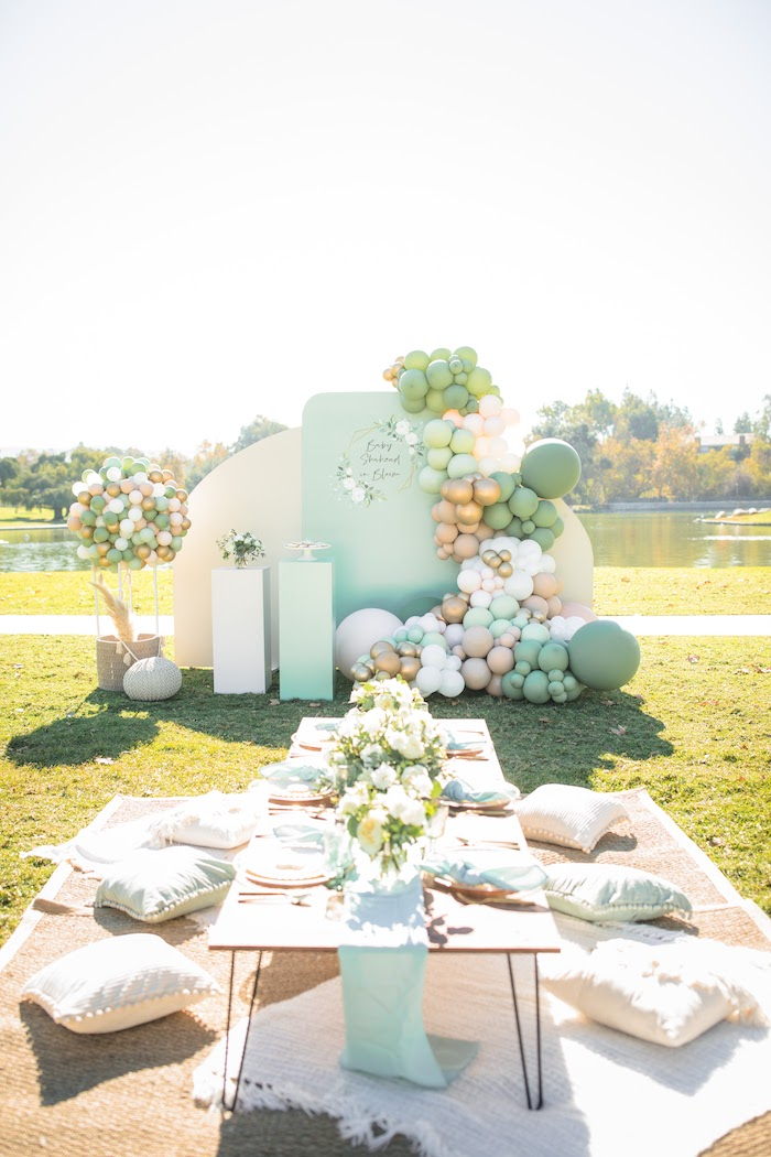 """Baby in Bloom"" Outdoor Baby Shower on Kara's Party Ideas 