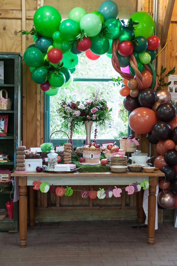 Apple Themed Dessert Table from an Apple Orchard Birthday Party on Kara's Party Ideas | KarasPartyIdeas.com (50)