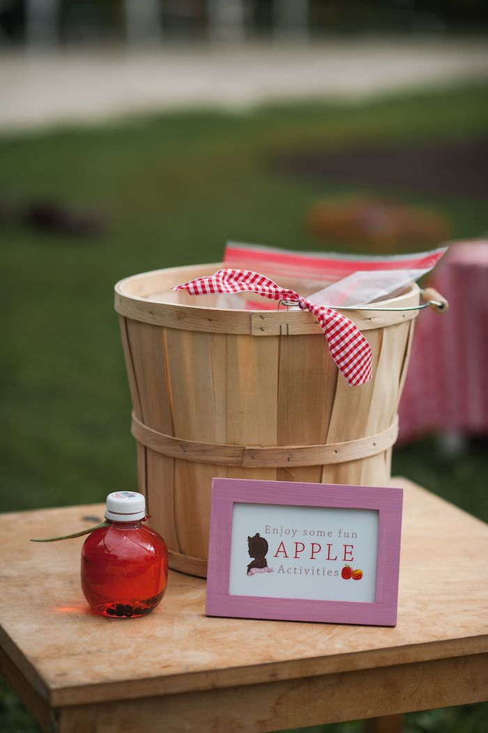 Apple Activity Basket from an Apple Orchard Birthday Party on Kara's Party Ideas | KarasPartyIdeas.com (63)