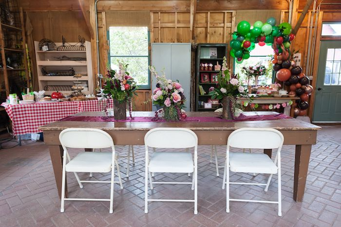 Guest Table from an Apple Orchard Birthday Party on Kara's Party Ideas | KarasPartyIdeas.com (37)