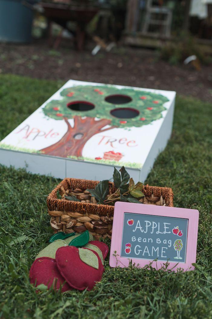 Apple Bean Bag Toss from an Apple Orchard Birthday Party on Kara's Party Ideas | KarasPartyIdeas.com (62)
