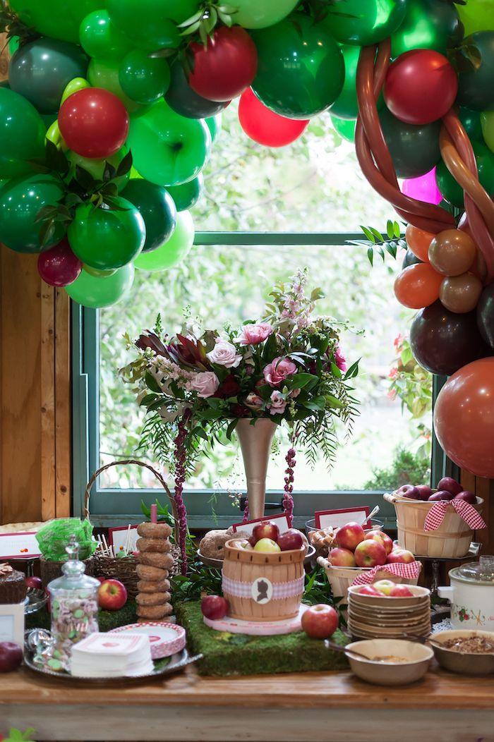 Apple Themed Dessert Table from an Apple Orchard Birthday Party on Kara's Party Ideas | KarasPartyIdeas.com (28)