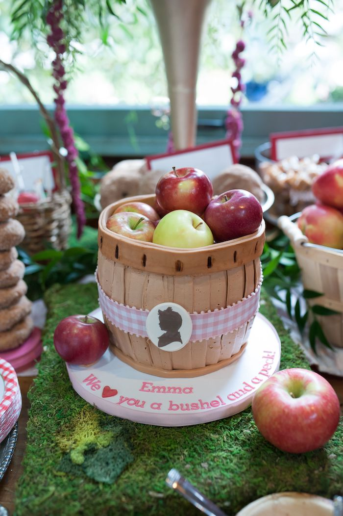 Apple Basket Cake from an Apple Orchard Birthday Party on Kara's Party Ideas | KarasPartyIdeas.com (20)