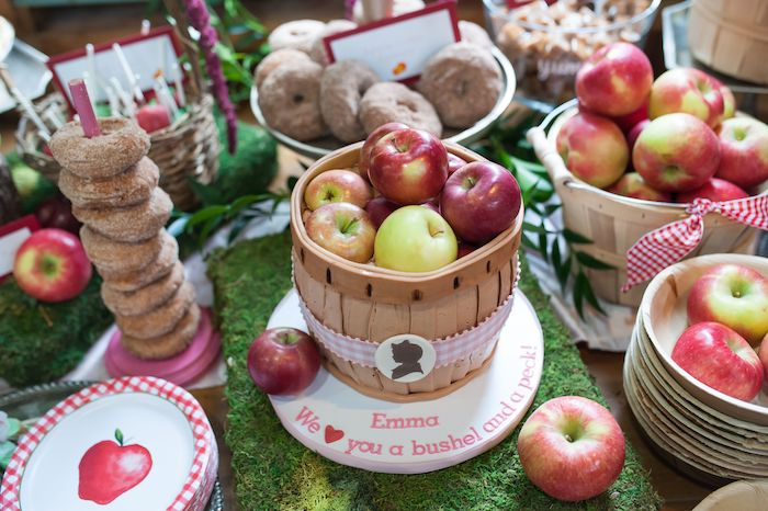 Apple Basket Cake from an Apple Orchard Birthday Party on Kara's Party Ideas | KarasPartyIdeas.com (18)