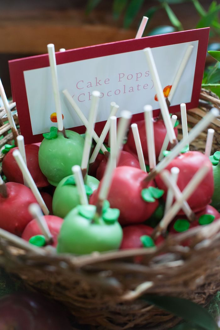 Apple Cake Pops from an Apple Orchard Birthday Party on Kara's Party Ideas | KarasPartyIdeas.com (17)