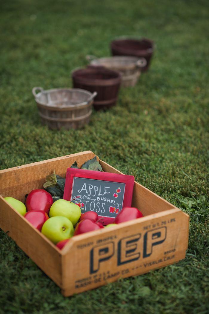 Apple Bushel Toss from an Apple Orchard Birthday Party on Kara's Party Ideas | KarasPartyIdeas.com (60)