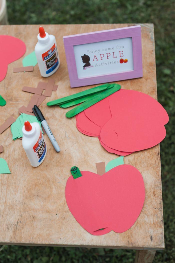 Apple & Worm Activity from an Apple Orchard Birthday Party on Kara's Party Ideas | KarasPartyIdeas.com (8)