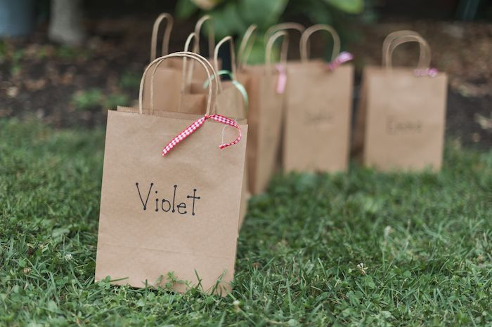 Brown Paper Favor Bags from an Apple Orchard Birthday Party on Kara's Party Ideas | KarasPartyIdeas.com (7)