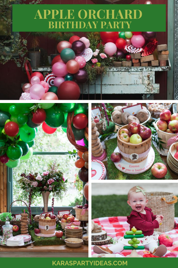 Apple Orchard Birthday Party via Kara's Party Ideas - KarasPartyIdeas.com