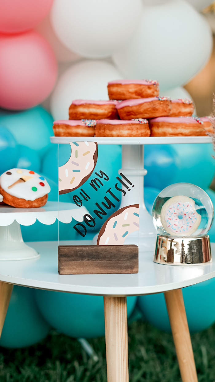 Donut Dessert Table from an Art & Donuts Crafting Party on Kara's Party Ideas | KarasPartyIdeas.com (12)