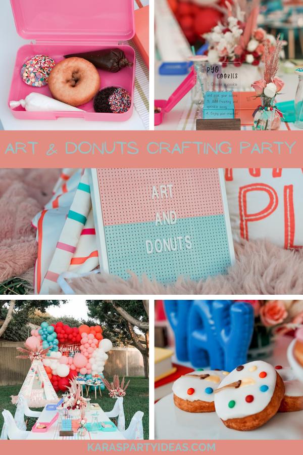 Art & Donuts Crafting Party via Kara's Party Ideas - KarasPartyIdeas.com
