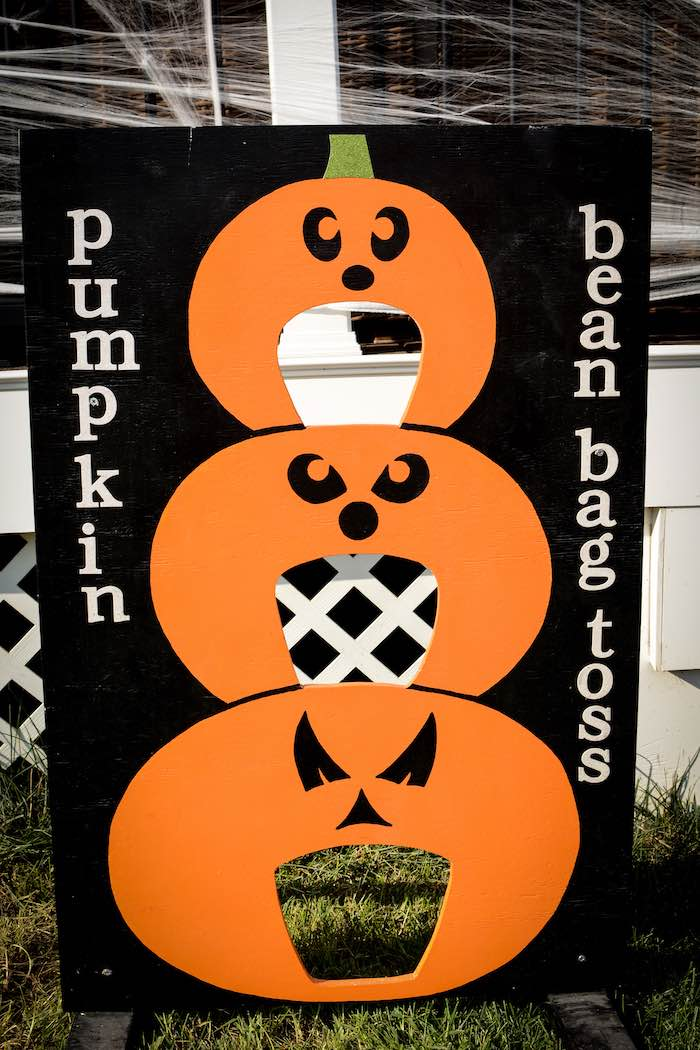 Pumpkin Bean Bag Toss from a Backyard Fall Festival Party on Kara's Party Ideas | KarasPartyIdeas.com (15)