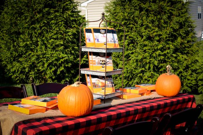 Pumpkin Carving Station from a Backyard Fall Festival Party on Kara's Party Ideas | KarasPartyIdeas.com (13)