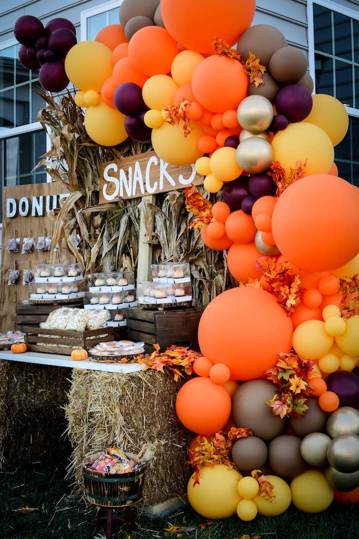 Snack Table from a Backyard Fall Festival Party on Kara's Party Ideas | KarasPartyIdeas.com (12)