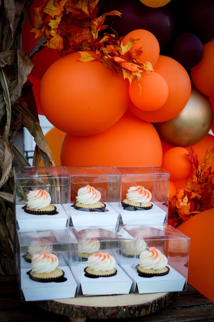 Cupcake Favors from a Backyard Fall Festival Party on Kara's Party Ideas | KarasPartyIdeas.com (7)