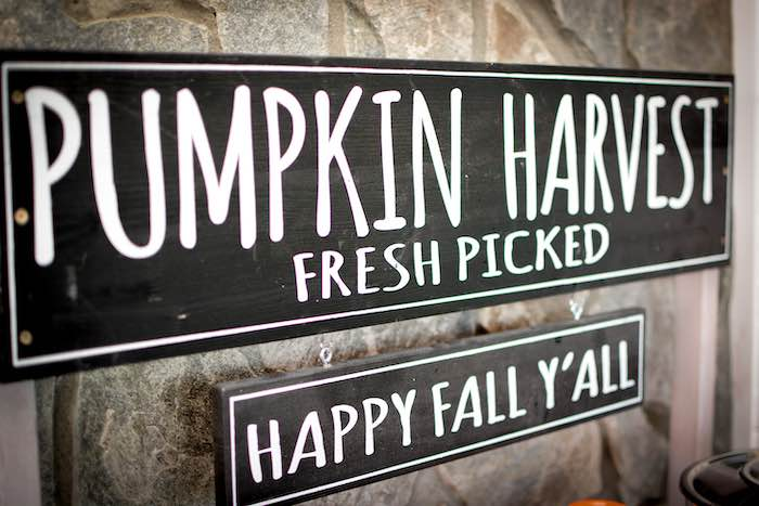 Fall Signage from a Backyard Fall Festival Party on Kara's Party Ideas | KarasPartyIdeas.com (27)