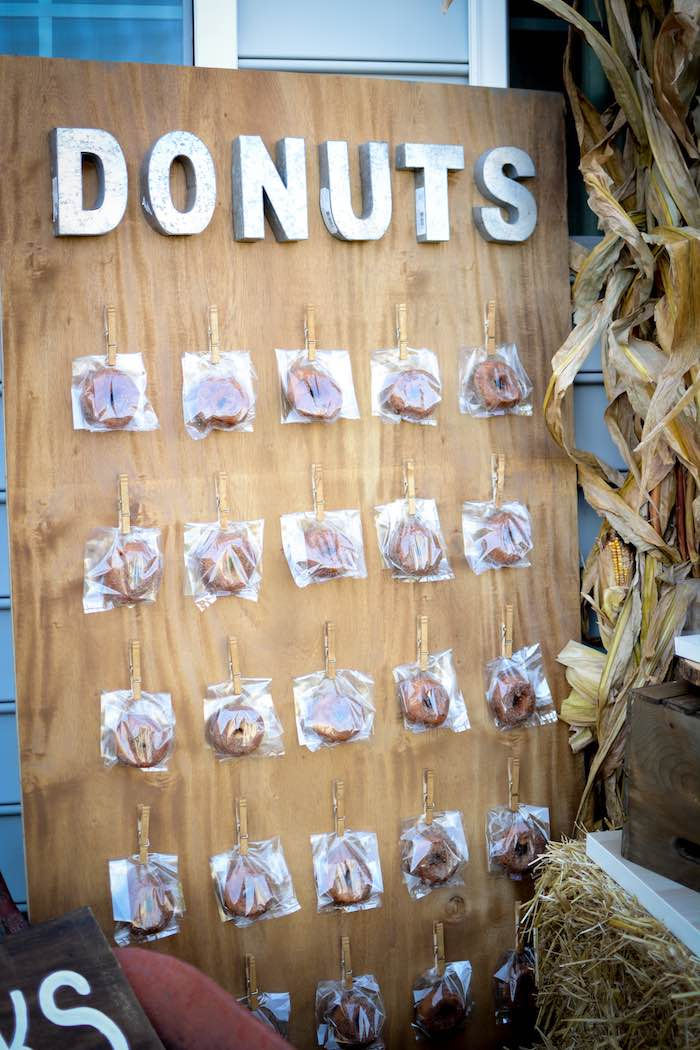 Donut Board from a Backyard Fall Festival Party on Kara's Party Ideas | KarasPartyIdeas.com (24)
