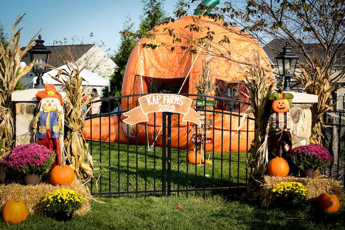 Scare Crow Entrance Gate from a Backyard Fall Festival Party on Kara's Party Ideas | KarasPartyIdeas.com (23)
