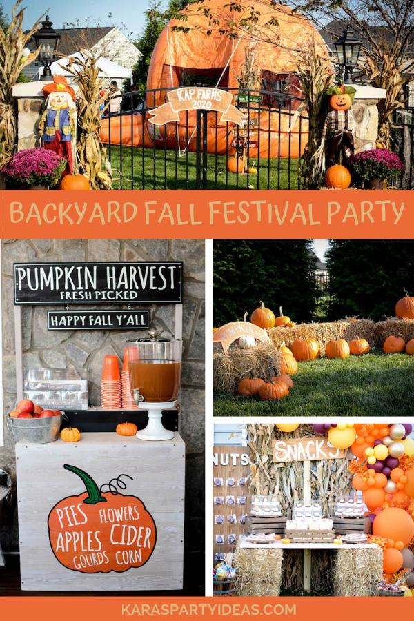 Backyard Fall Festival Party via Kara's Party Ideas - KarasPartyIdeas.com