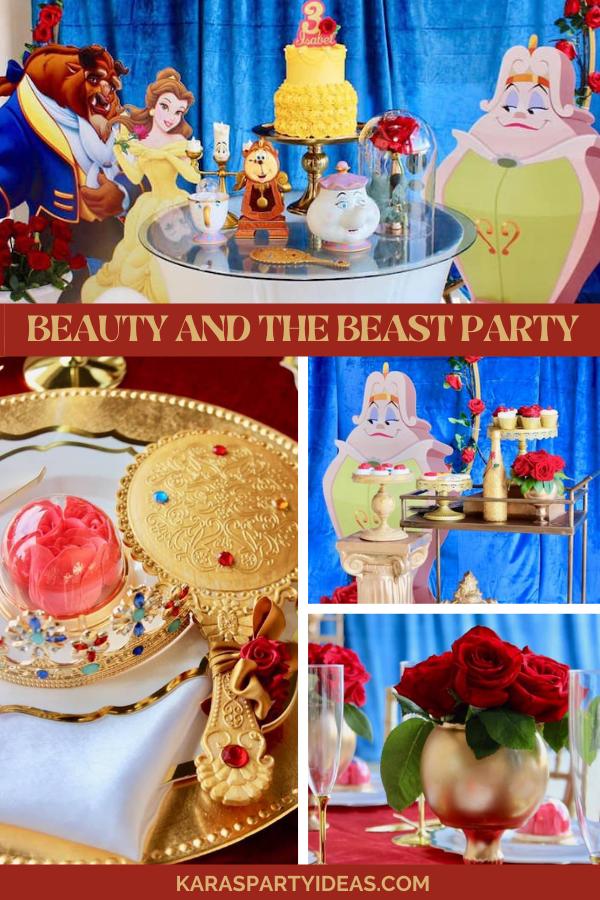 Beauty and the Beast Party via Kara's Party Ideas - KarasPartyIdeas.com