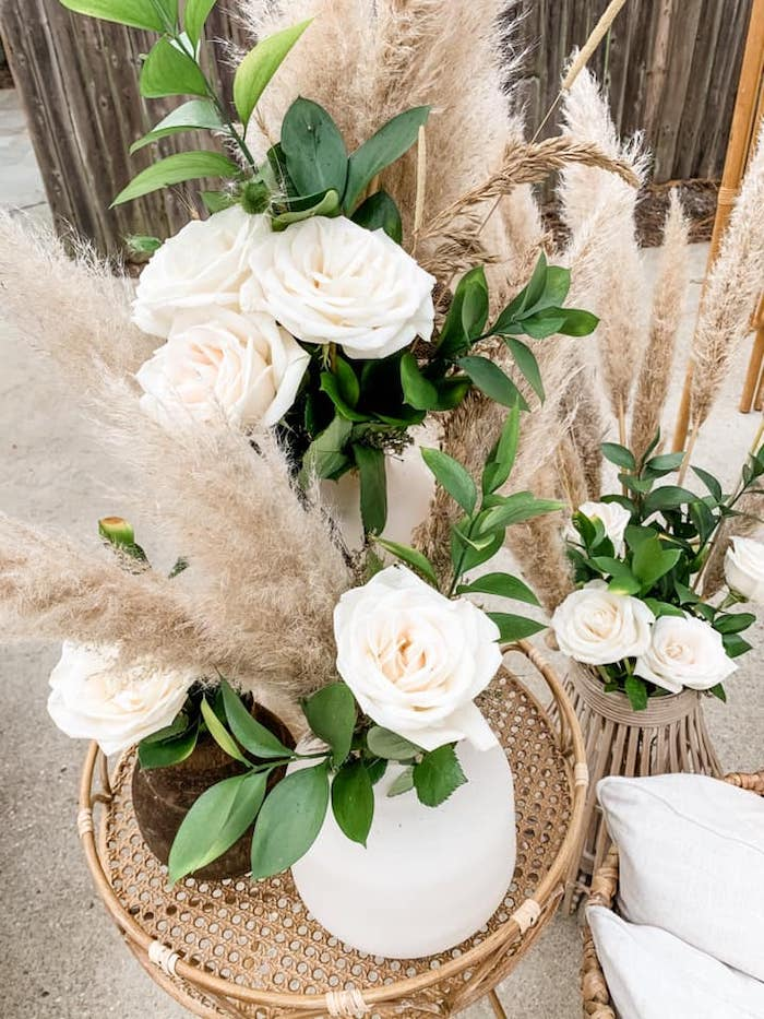 Boho-inspired Floral Arrangements from a Boho Drive-by Baby Shower on Kara's Party Ideas | KarasPartyIdeas.com (7)