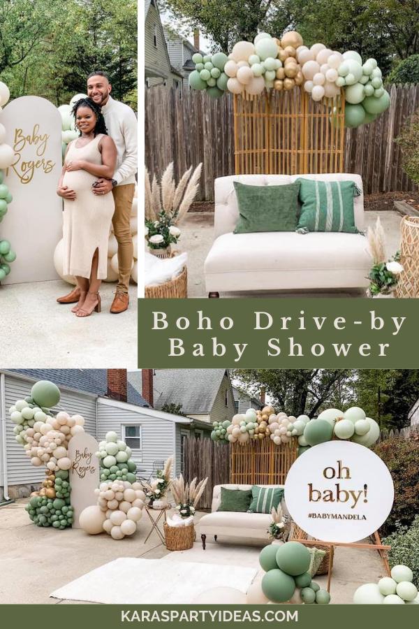 Boho Drive-by Baby Shower via Kara's Party Ideas - KarasPartyIdeas.com