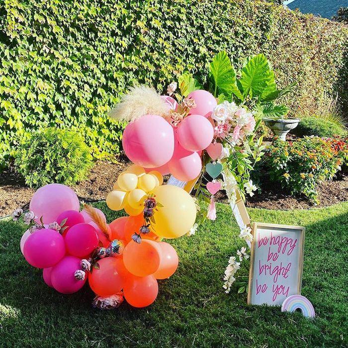 Boho Balloon Install from a Boho Rainbow Art Party on Kara's Party Ideas | KarasPartyIdeas.com (6)
