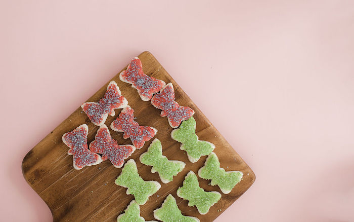 Butterfly Cookies from a Butterfly Tea and Crafting Party on Kara's Party Ideas | KarasPartyIdeas.com (20)