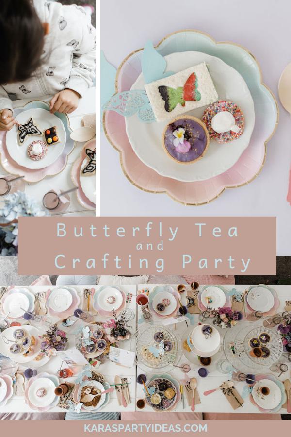 Butterfly Tea and Crafting Party via Kara's Party Ideas - KarasPartyIdeas.com