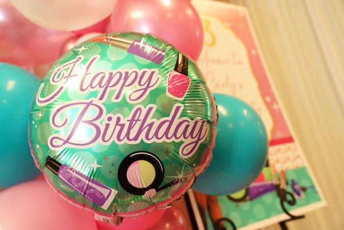 Mylar Balloon from a Diva Spa Party on Kara's Party Ideas | KarasPartyIdeas.com (10)